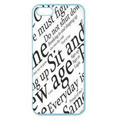 Abstract Minimalistic Text Typography Grayscale Focused Into Newspaper Apple Seamless iPhone 5 Case (Color)