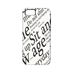 Abstract Minimalistic Text Typography Grayscale Focused Into Newspaper Apple Iphone 5 Classic Hardshell Case (pc+silicone)
