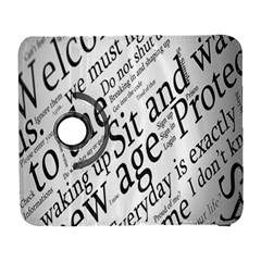Abstract Minimalistic Text Typography Grayscale Focused Into Newspaper Galaxy S3 (flip/folio)