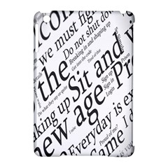 Abstract Minimalistic Text Typography Grayscale Focused Into Newspaper Apple Ipad Mini Hardshell Case (compatible With Smart Cover)