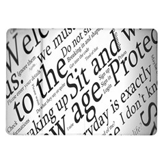 Abstract Minimalistic Text Typography Grayscale Focused Into Newspaper Samsung Galaxy Tab 10.1  P7500 Flip Case