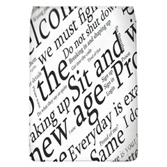 Abstract Minimalistic Text Typography Grayscale Focused Into Newspaper Flap Covers (L)