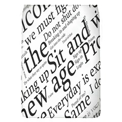 Abstract Minimalistic Text Typography Grayscale Focused Into Newspaper Flap Covers (S)