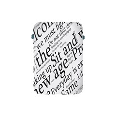 Abstract Minimalistic Text Typography Grayscale Focused Into Newspaper Apple iPad Mini Protective Soft Cases