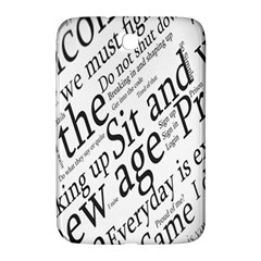 Abstract Minimalistic Text Typography Grayscale Focused Into Newspaper Samsung Galaxy Note 8.0 N5100 Hardshell Case