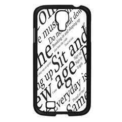 Abstract Minimalistic Text Typography Grayscale Focused Into Newspaper Samsung Galaxy S4 I9500/ I9505 Case (Black)