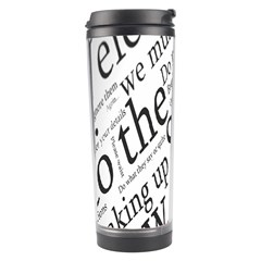 Abstract Minimalistic Text Typography Grayscale Focused Into Newspaper Travel Tumbler