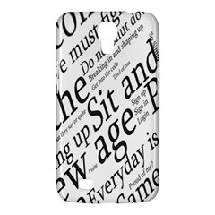Abstract Minimalistic Text Typography Grayscale Focused Into Newspaper Samsung Galaxy Mega 6.3  I9200 Hardshell Case