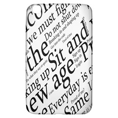 Abstract Minimalistic Text Typography Grayscale Focused Into Newspaper Samsung Galaxy Tab 3 (8 ) T3100 Hardshell Case
