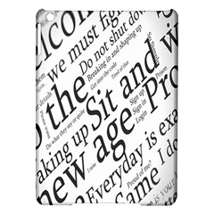 Abstract Minimalistic Text Typography Grayscale Focused Into Newspaper Ipad Air Hardshell Cases