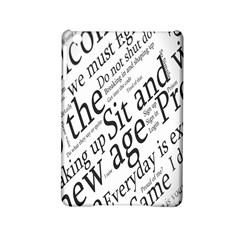 Abstract Minimalistic Text Typography Grayscale Focused Into Newspaper iPad Mini 2 Hardshell Cases