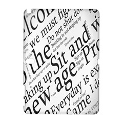 Abstract Minimalistic Text Typography Grayscale Focused Into Newspaper Galaxy Note 1
