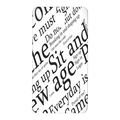 Abstract Minimalistic Text Typography Grayscale Focused Into Newspaper Samsung Galaxy Note 3 N9005 Hardshell Back Case