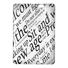 Abstract Minimalistic Text Typography Grayscale Focused Into Newspaper Kindle Fire HDX 8.9  Hardshell Case