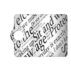 Abstract Minimalistic Text Typography Grayscale Focused Into Newspaper Kindle Fire HD (2013) Flip 360 Case