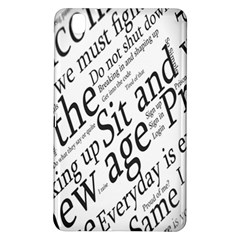 Abstract Minimalistic Text Typography Grayscale Focused Into Newspaper Samsung Galaxy Tab Pro 8 4 Hardshell Case