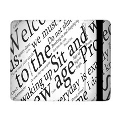 Abstract Minimalistic Text Typography Grayscale Focused Into Newspaper Samsung Galaxy Tab Pro 8.4  Flip Case
