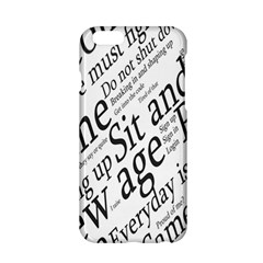 Abstract Minimalistic Text Typography Grayscale Focused Into Newspaper Apple Iphone 6/6s Hardshell Case