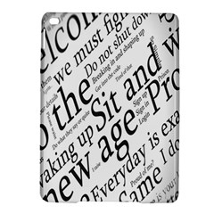 Abstract Minimalistic Text Typography Grayscale Focused Into Newspaper iPad Air 2 Hardshell Cases