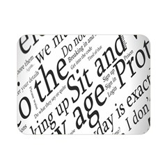 Abstract Minimalistic Text Typography Grayscale Focused Into Newspaper Double Sided Flano Blanket (mini)