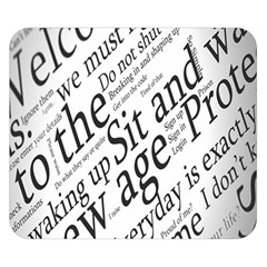 Abstract Minimalistic Text Typography Grayscale Focused Into Newspaper Double Sided Flano Blanket (Small)