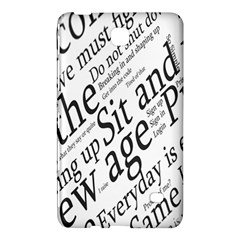 Abstract Minimalistic Text Typography Grayscale Focused Into Newspaper Samsung Galaxy Tab 4 (8 ) Hardshell Case