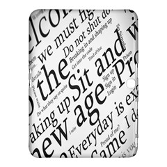 Abstract Minimalistic Text Typography Grayscale Focused Into Newspaper Samsung Galaxy Tab 4 (10.1 ) Hardshell Case