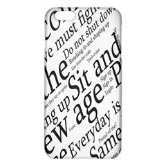 Abstract Minimalistic Text Typography Grayscale Focused Into Newspaper iPhone 6 Plus/6S Plus TPU Case