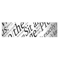 Abstract Minimalistic Text Typography Grayscale Focused Into Newspaper Satin Scarf (Oblong)