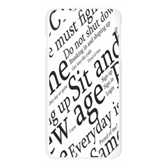 Abstract Minimalistic Text Typography Grayscale Focused Into Newspaper Apple Seamless iPhone 6 Plus/6S Plus Case (Transparent)