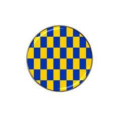 Flag Plaid Blue Yellow Hat Clip Ball Marker