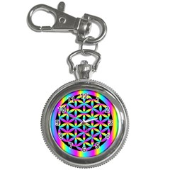 Flower Of Life Gradient Fill Black Circle Plain Key Chain Watches