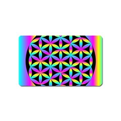 Flower Of Life Gradient Fill Black Circle Plain Magnet (name Card)