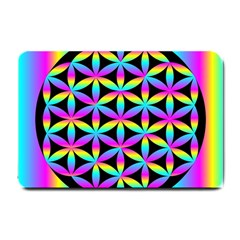 Flower Of Life Gradient Fill Black Circle Plain Small Doormat