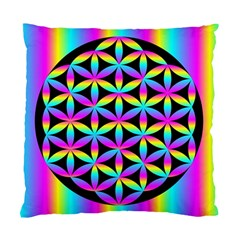 Flower Of Life Gradient Fill Black Circle Plain Standard Cushion Case (two Sides)