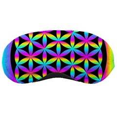 Flower Of Life Gradient Fill Black Circle Plain Sleeping Masks