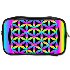 Flower Of Life Gradient Fill Black Circle Plain Toiletries Bags 2-Side