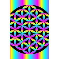 Flower Of Life Gradient Fill Black Circle Plain 5 5  X 8 5  Notebooks