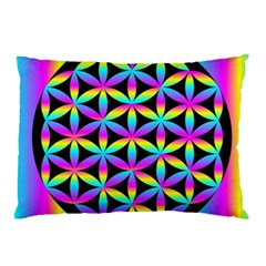 Flower Of Life Gradient Fill Black Circle Plain Pillow Case (Two Sides)