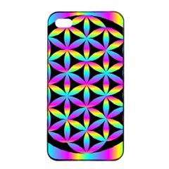 Flower Of Life Gradient Fill Black Circle Plain Apple iPhone 4/4s Seamless Case (Black)