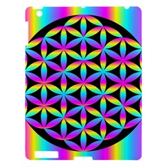 Flower Of Life Gradient Fill Black Circle Plain Apple Ipad 3/4 Hardshell Case