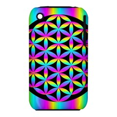 Flower Of Life Gradient Fill Black Circle Plain Iphone 3s/3gs