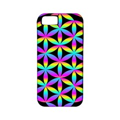 Flower Of Life Gradient Fill Black Circle Plain Apple Iphone 5 Classic Hardshell Case (pc+silicone)