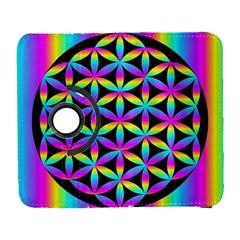 Flower Of Life Gradient Fill Black Circle Plain Galaxy S3 (flip/folio)