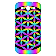 Flower Of Life Gradient Fill Black Circle Plain Samsung Galaxy S3 S III Classic Hardshell Back Case