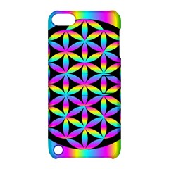 Flower Of Life Gradient Fill Black Circle Plain Apple iPod Touch 5 Hardshell Case with Stand