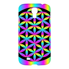Flower Of Life Gradient Fill Black Circle Plain Samsung Galaxy S4 I9500/I9505 Hardshell Case
