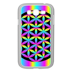 Flower Of Life Gradient Fill Black Circle Plain Samsung Galaxy Grand DUOS I9082 Case (White)