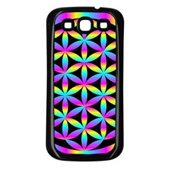 Flower Of Life Gradient Fill Black Circle Plain Samsung Galaxy S3 Back Case (Black)