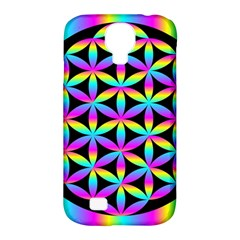 Flower Of Life Gradient Fill Black Circle Plain Samsung Galaxy S4 Classic Hardshell Case (PC+Silicone)